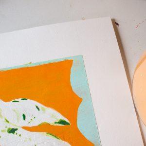 Philodendron-painting-Georgie-Daphne-closeup