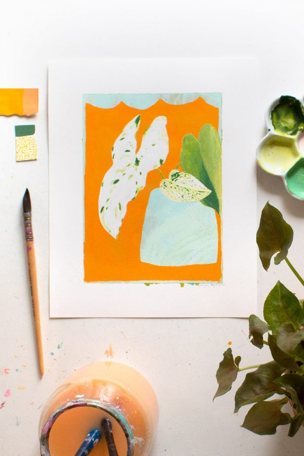 Philodendron-painting-Georgie-Daphne