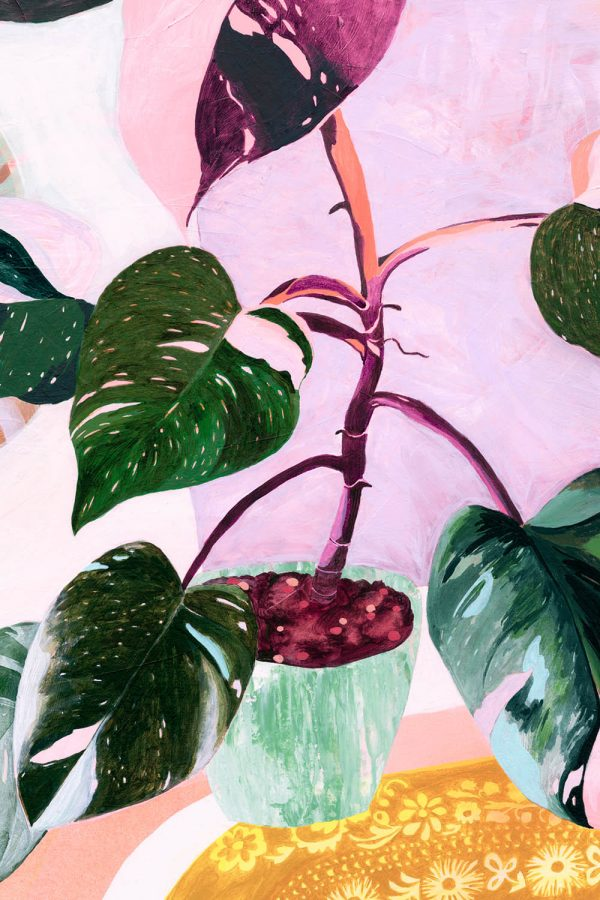 Pink-Philodendron-painting-Georgie-Daphne
